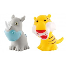 Simple Dimple My Toy - Premium Animals Vinyl Toy Rhino & Tiger (2pcs Set)
