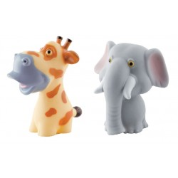 Simple Dimple My Toy - Premium Animals Vinyl Toy Giraffe & Elephant (2pcs Set)