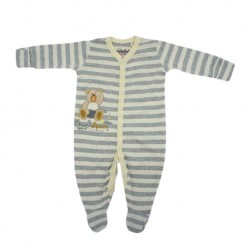 Trendyvalley Organic Cotton One Piece Suit Romper with Hands and Feet Covered (Once Upon A Dream)