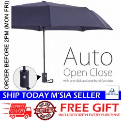 Little B House Auto Open Close One Handed Automatic Windproof Vented Umbrella - UM01
