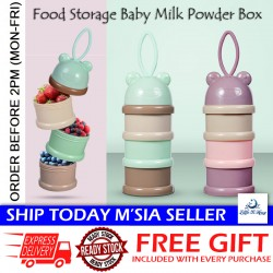 Little B House Baby Three-layer Food Storage Milk Powder Box Portable Container Feeding Box - TW16