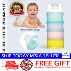 Little B House 4 Layer Portable Baby Feeding Milk Powder & Food Container Grid Box Storage Dispenser - BKM19