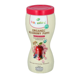 Baby Natura Organic Riceberry Puffs - Apple with Berries