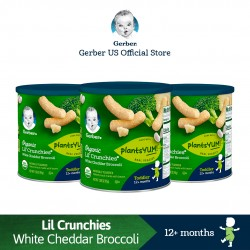 Gerber Organic Lil' Crunchies 45g x 3 (White Cheddar Broccoli) (Expiry Date: 26.11.2020)