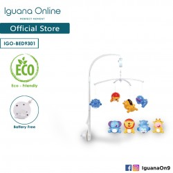 Iguana Online Hanging Cute Toys Music Box Projection Bed Bell Crib Toys Sleep Tight BED9301 (Normal)