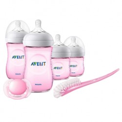 Philips Avent Newborn Starter Set - Natural 2.0 (PP, Pink) (Extra Soft Teat) + FOC 3pc set Food Container worth RM26