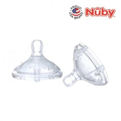 Nuby Natural Touch  Silicone Replacement Nipples -Medium Flow (2pcs)