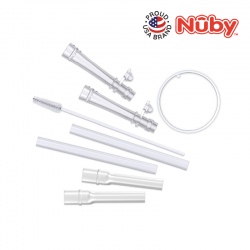 Nuby No-Spill Flip-it 2pk Replacement Straw Kit
