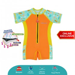 Cheekaaboo Wobbie Suit Thermal Swimsuit - Dino (Summer Paradise)