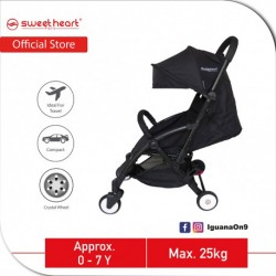Sweet Heart Paris Compact Stroller Savannah (Black) with Free Travel Bag