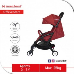 Sweet Heart Paris Compact Stroller Savannah (Red) with Free Travel Bag