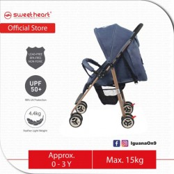 Sweet Heart Paris Compact Size Stroller with 8 Eva Wheels (Blue)