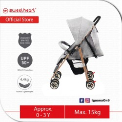 Sweet Heart Paris Compact Size Stroller with 8 Eva Wheels (Grey)