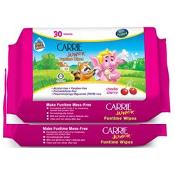 Carrie Junior Funtime Wipes - Cheeky Cherry (30s x 2)