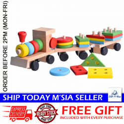 Little B House Disassembly Combination 3 Small Wooden Train Educational Toys - BKM29