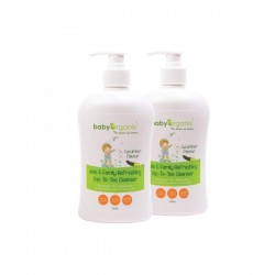 BabyOrganix Kids and Family Top To Toe Cleanser - Cucumber (Twin Pack) (400ml)