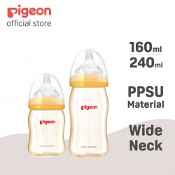 Pigeon Wide-Neck Nursing Bottle (PPSU : Polyphenylsulfone - 160ml) - 00875
