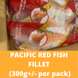 Pacific Red Fish Fillet 300g+/- (Sold per pack)