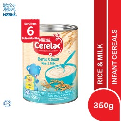 Nestle Cerelac Infant Cereals With Milk Rice and Milk (350g)