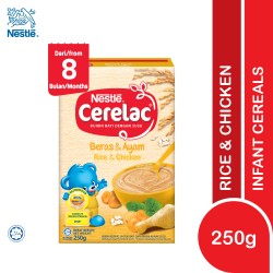 Nestlé Cerelac Infant Cereal Rice & Chicken (8 Months+) 250g (Expiry Date 02/09/2022)