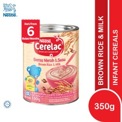 Nestle Cerelac Infant Cereals With Milk Brown Rice and Milk (350g) (Expiry Date: 02/05/2022)