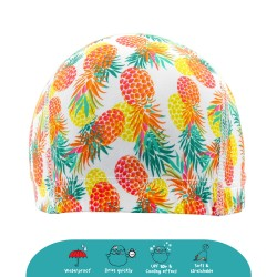 Cheekaaboo Protective Waterproof Swim Cap - Pineapple (2-8 years) - Summer Paradise