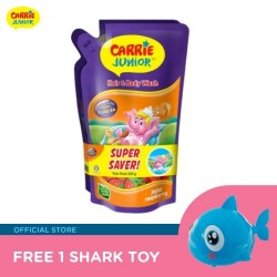 Carrie Junior Hair & Body Wash Pouch (Bundle x 2 Refill Pack) FREE Shark Toy