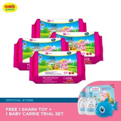 Carrie Junior Funtime Wipes Set (30s x 4) FREE Shark Toy + Trial Set