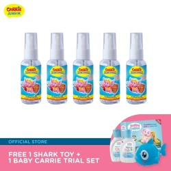 Carrie BacBuster Antibacterial Hand Sanitiser Set (50ml x 5) FREE Shark Toy + Trial Set