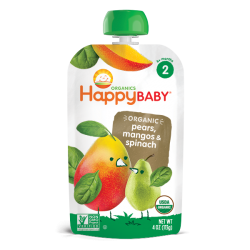 HappyBaby Stage 2 Simple Combos (Pears Mangos Spinach)