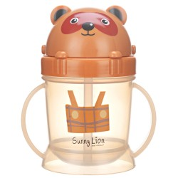 Sunny Lion Training Cup Bear 180ml - Dark Brown