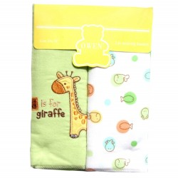 OWEN Baby Receiving Blankets, 2 Piece Set (GREEN)