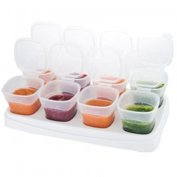 Autumnz Easy Breastmilk & Baby Food Storage Cups (2oz) - Clear