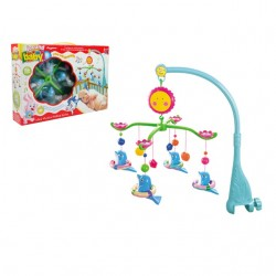 Royalcot Baby Cot Musical Mobile Baby Toys (Dolphin)
