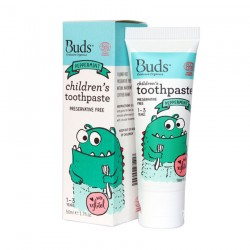 Buds Oralcare Organics Children's Toothpaste with Xylitol 50ml - Peppermint