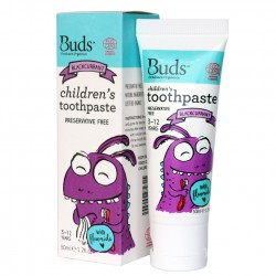 Buds Oralcare Organics Children\s Toothpaste with Flouride 50ml - Blackcurrant
