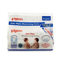Pigeon Baby Wipes Moisturizing Cloths, 70's X 2 -10819