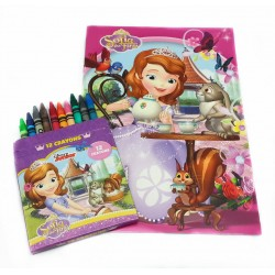 Disney Sofia The First Tea Time Coloring Book Set