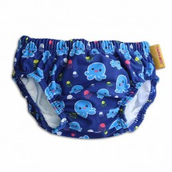 Cheekaaboo Swim Diaper-Red / Octopus