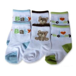 Bumble Bee 3 Pairs Pack Baby Bear Socks