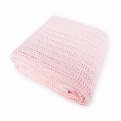 Bumble Bee Thermal Blankets with Satin Border-Pink