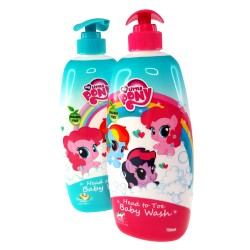 My Little Pony Twin Pack Head to Toe Baby Wash 750ml (Honey Soya Bean + Honey Strawberry Cow Milk)