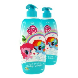 My Little Pony Twin Pack Head to Toe Baby Wash 750ml (Honey Soya Bean)