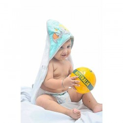 OWEN Baby Knit Hooded Towel, 2 Piece Set (YELLOW)