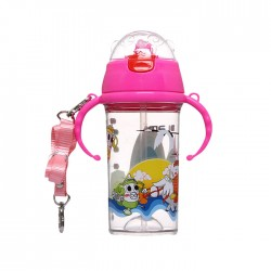 [Buy 1 free 1] DLAMI DS01 Baby Water Bottle 380ml-Pink and Green