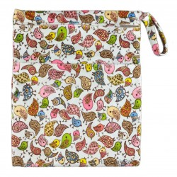 Rocktak Baby Wetbag with 2 Compartments (Minky) Birds