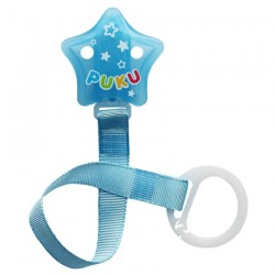 PUKU Baby Soother Pacifier Chain Star Shape Clip Blue P11115