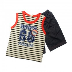 Pigeon Basic Boy Sleeveless Tee & Bermuda Pants - Dad's Team FS