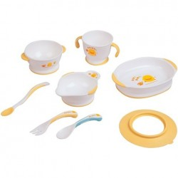 Piyo Piyo Dual Colour Slip-proof Tableware Set