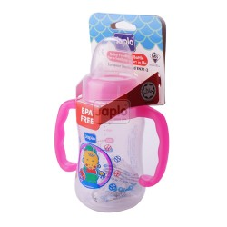 Japlo Streamlined Sl140Ml Feeding Bottle Pink (Without Handle)- Hanging Card